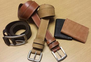 wallet & belt.